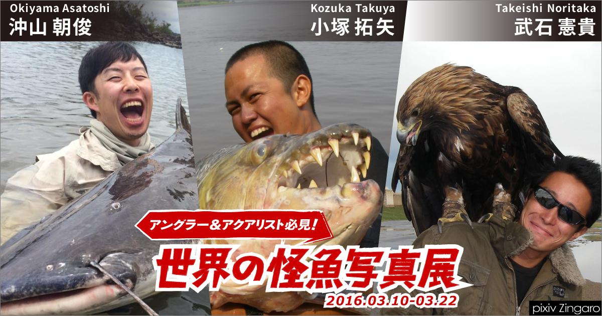 「世界の怪魚写真展~武石 憲貴・小塚 拓矢・沖山 朝俊」| 2016.03.10 – 03.22